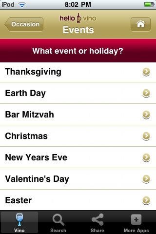 Wine iPhone App: Holiday Wines