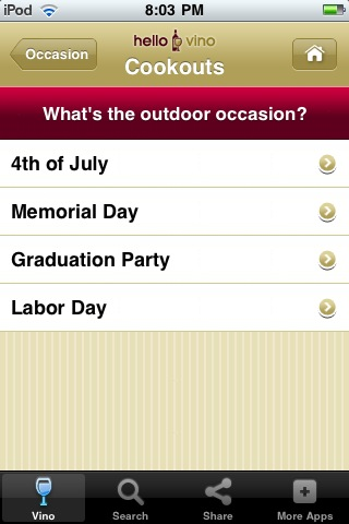 Wine iPhone App: Wine for a Cookout