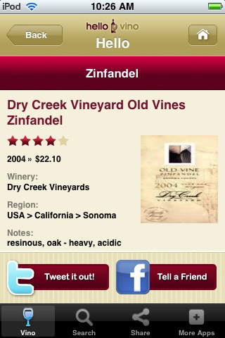 Wine iPhone App: Wine Recommendations