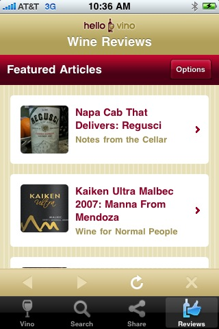 Wine iPhone App: Wine Reviews