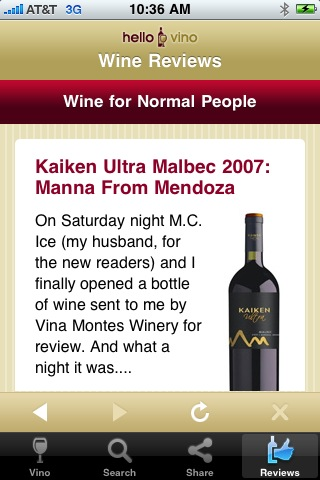Wine iPhone App: Reviews from Wine Writers
