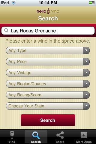 Wine iPhone App: Search Wine Ratings