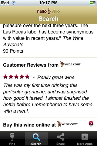 Wine iPhone App: Wine Ratings & Reviews