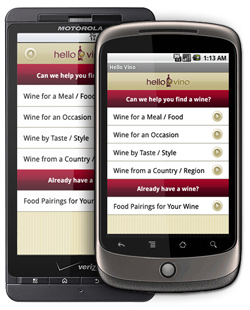 Search for Hello Vino on the Android Market
