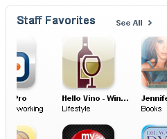 "Hello Vino - ""Staff Favorite"" in the iTunes App Store"