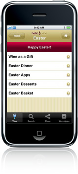 Get wine pairings for Easter in the free Hello Vino app