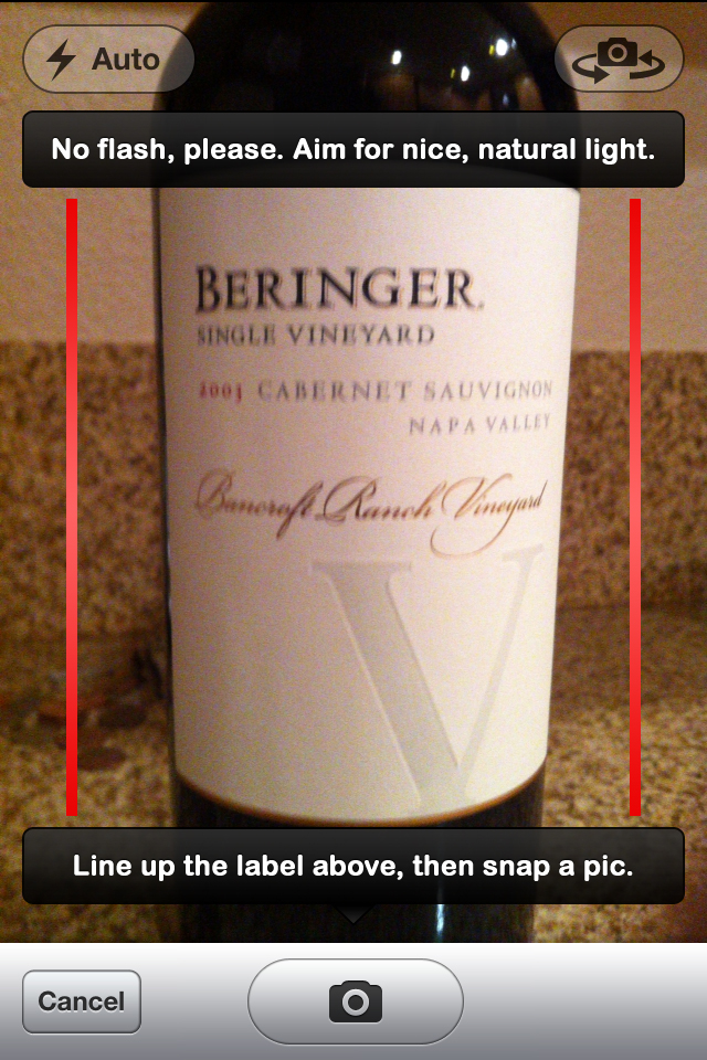 Image Recognition - Snap a pic of a wine label, get all the notes