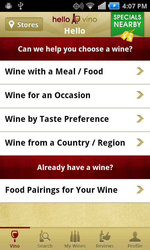 Hello Vino App - Your personal assistant in the wine aisle.
