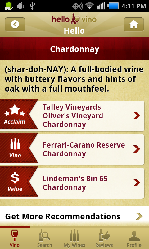 Wine Recommendations - Specific brands recommended for food pairings, special occasions and personal taste preferences.