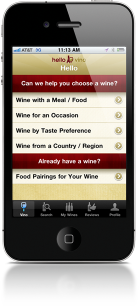 Hello Vino - Free iPhone App