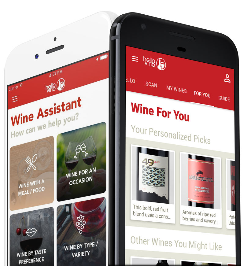 Hello Vino Wine Assistant App for iPhone and Android